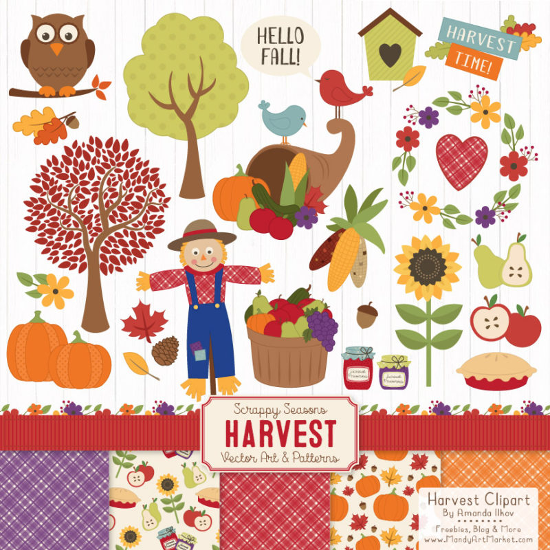 Fun fall clipart clip art transparent download Free Autumn Clipart is Recycled But Still Fun - Mandy Art Market clip art transparent download