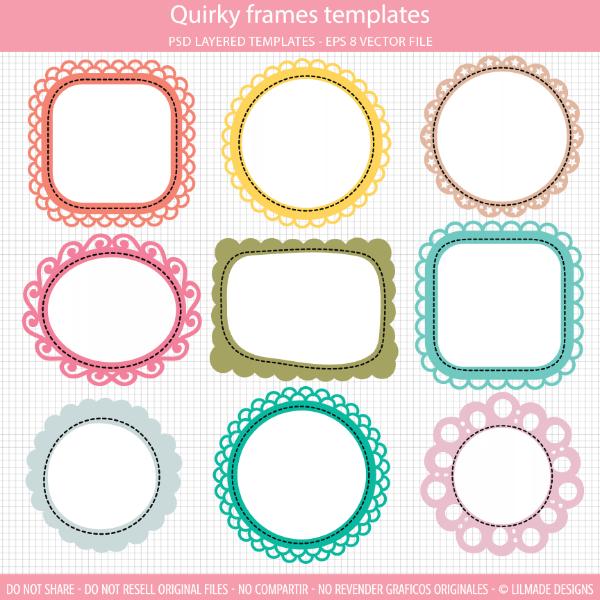 Fun frame clipart clip stock Quirky frames clipart templates   Scrapbook   Frame clipart, Clip ... clip stock