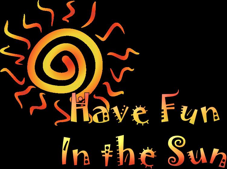 Fun in the sun clipart picture black and white download Clipart - Fun In the Sun picture black and white download
