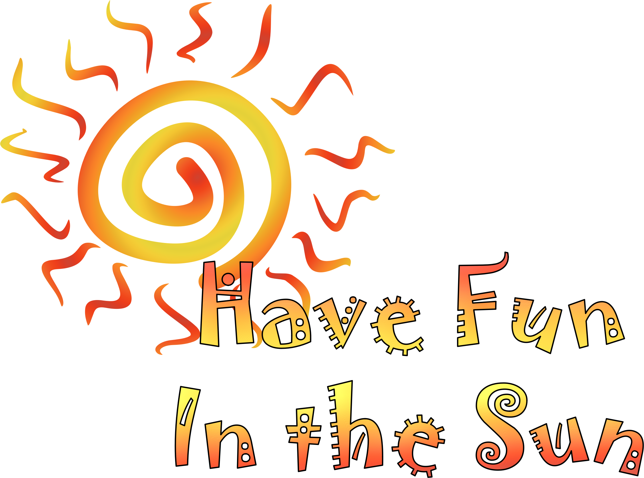 Fun in the sun people clipart clip art freeuse Clipart - Fun In the Sun clip art freeuse