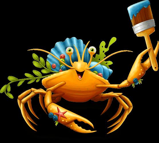 Fun maker vbs clipart image Decker the Decorator Crab Bible Memory Buddy Maker Fun Factory VBS ... image