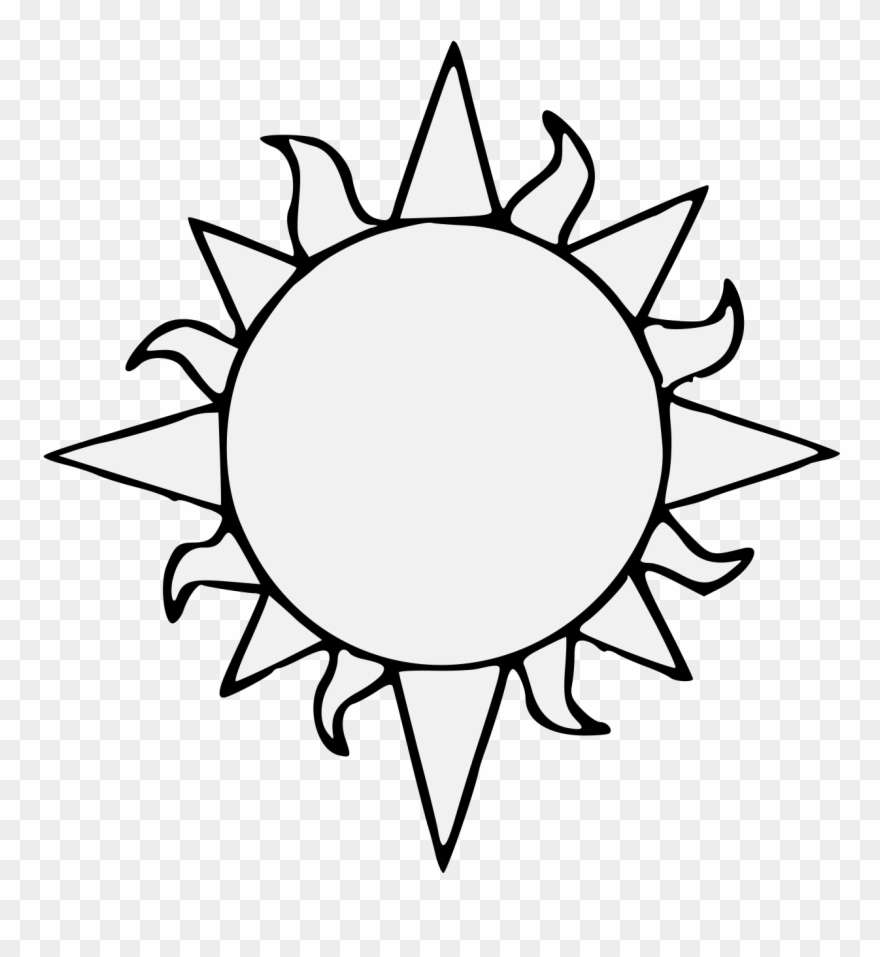 Transparent black clipart picture royalty free library Sun Drawing Black And White | Free download best Sun Drawing Black ... picture royalty free library