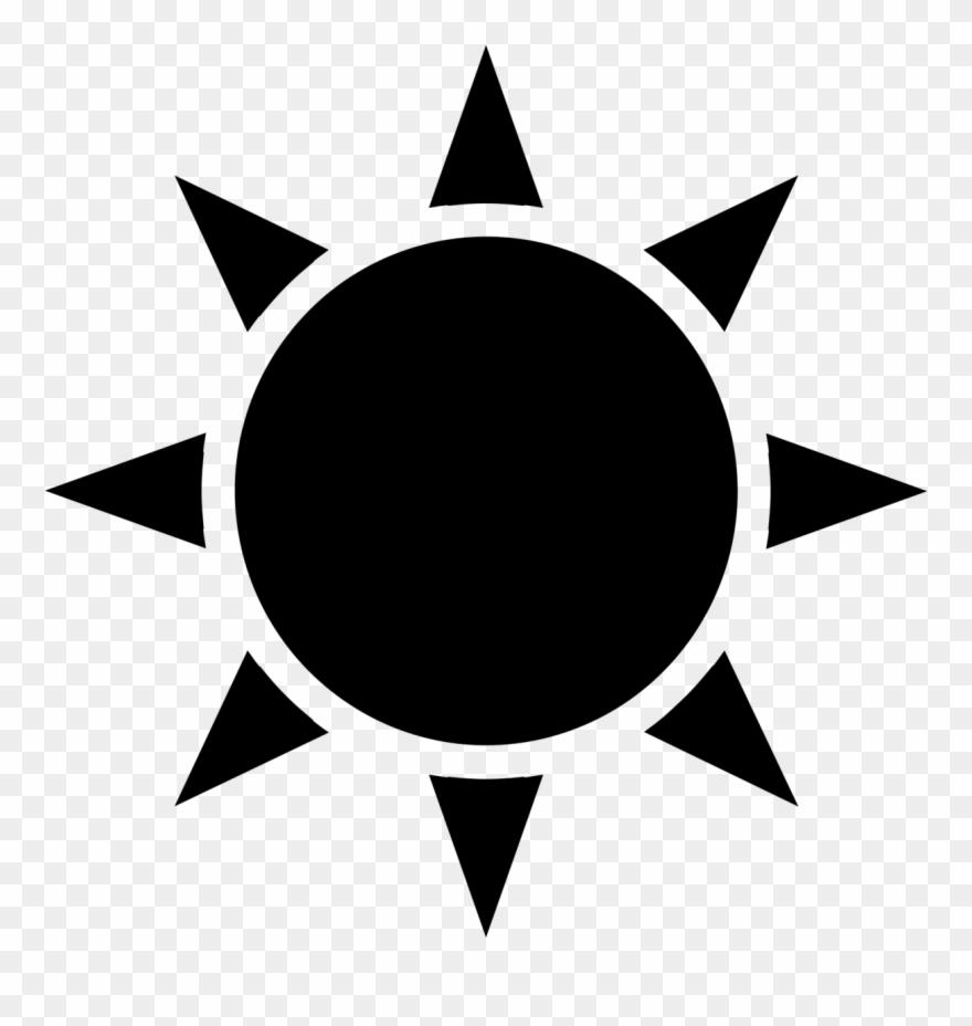 Fun sun clipart black and white transparent picture library library Black Sun Icon Transparent Clipart (#1034877) - PinClipart picture library library