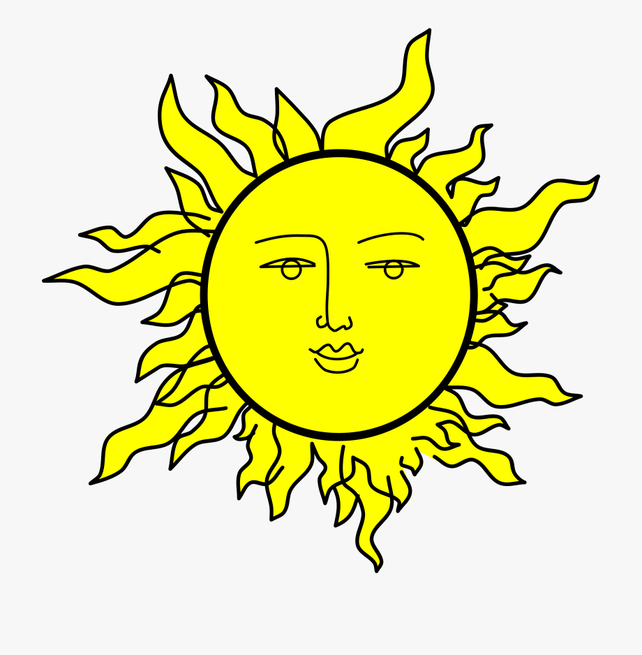 Fun sun clipart black and white transparent royalty free stock Sun With A Face By Rones - Sun With Face Png #2466 - Free Cliparts ... royalty free stock