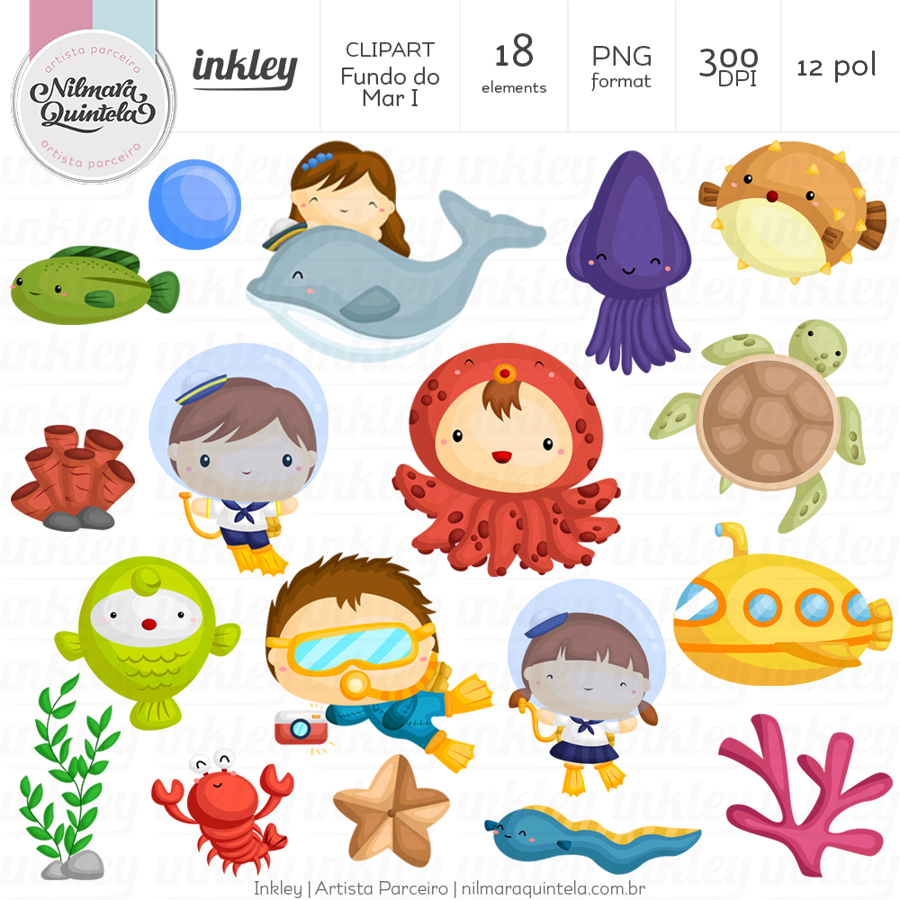 Fundo clipart graphic free library Clipart Fundo do Mar I graphic free library