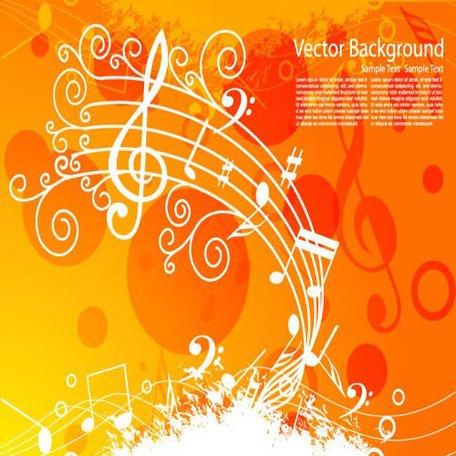 Fundo laranja clipart banner black and white download Clipart e gráficos vetoriais de Fundo laranja música gratuitos ... banner black and white download