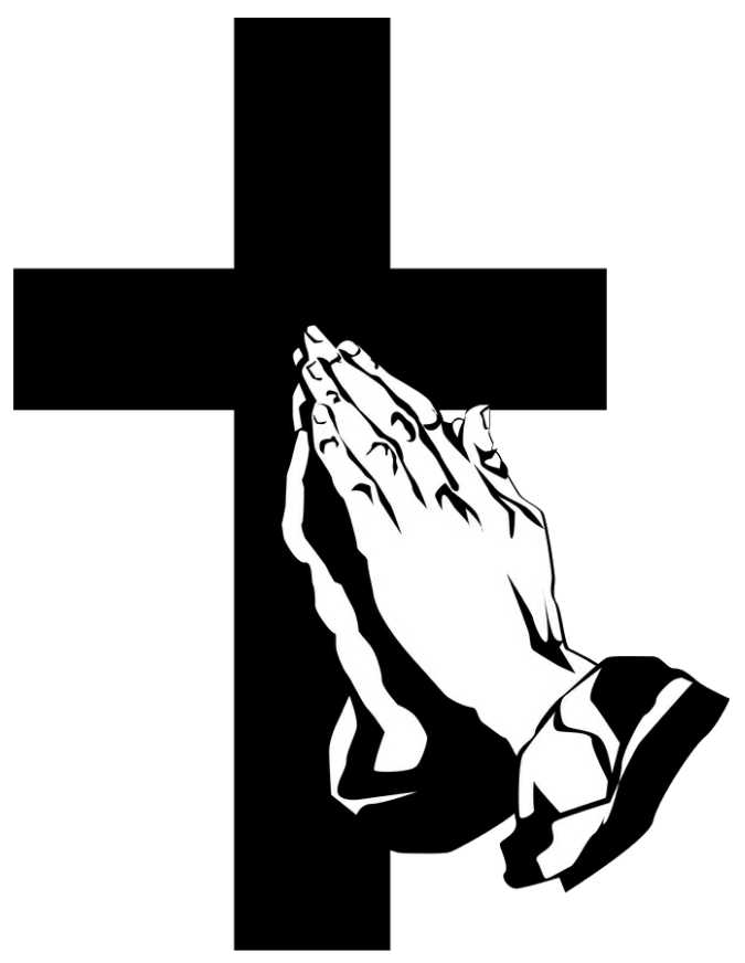 Funeral cross clipart svg black and white library Funeral Clipart prayer hand - Free Clipart on Dumielauxepices.net svg black and white library