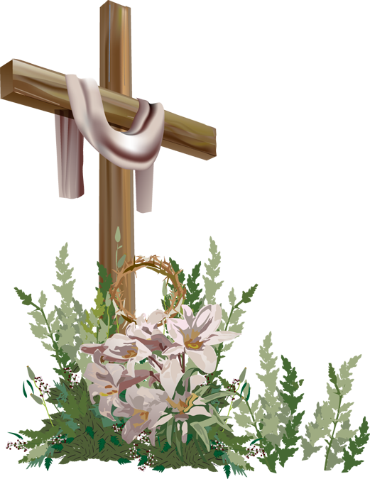 Funeral cross clipart clip art library Easter Flower Cross Clipart clip art library