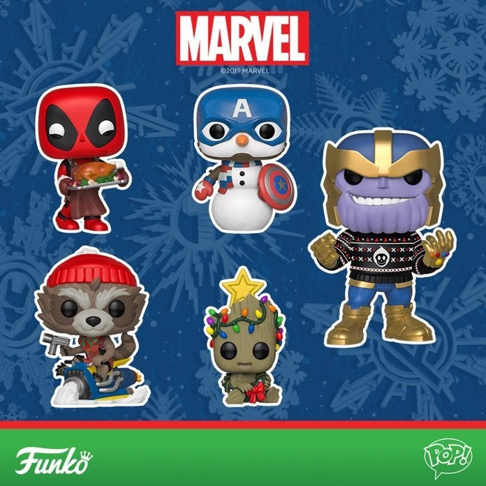 Funko pop marvel clipart banner free Funko\'s New Marvel Holiday Pops Are Christmas in June banner free