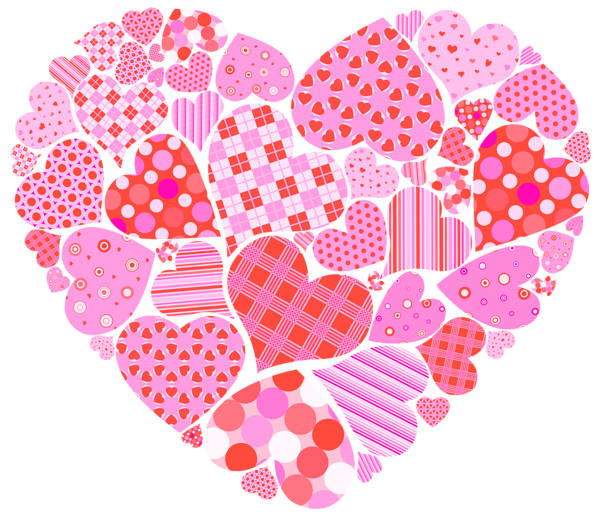 Paisley heart clipart vector transparent Valentines Day Heart of Hearts PNG Clipart Picture | Corazones ... vector transparent