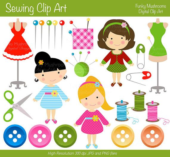 Funky mushrooms digital clipart jpg free Digital clipart Sewing clip art buttons for by funkymushrooms, €3.20 ... jpg free