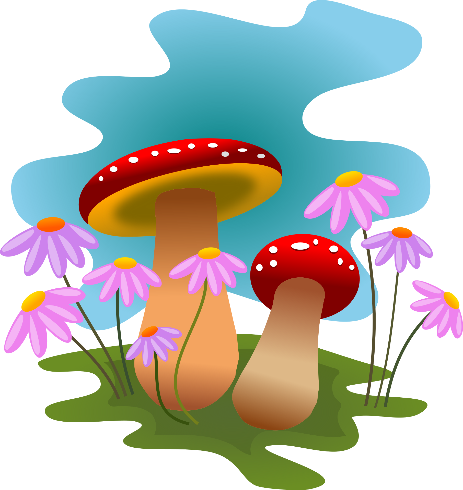 Funky mushrooms digital clipart image library Mushrooms Clipart | Free download best Mushrooms Clipart on ... image library