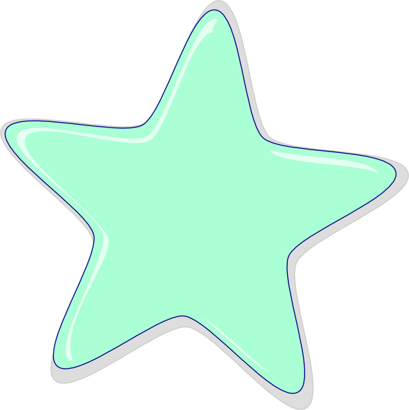Peach star clipart clipart black and white download Mint Star Clip Art at Clker.com - vector clip art online, royalty ... clipart black and white download
