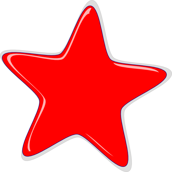 Gold red star clipart picture transparent download Red Star Clip Art at Clker.com - vector clip art online, royalty ... picture transparent download