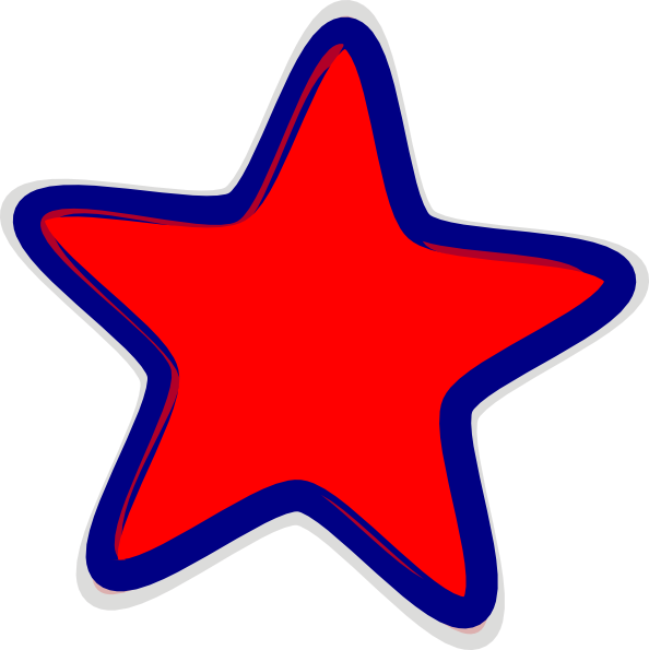 Star in space clipart clipart black and white Red Star Clip Art at Clker.com - vector clip art online, royalty ... clipart black and white