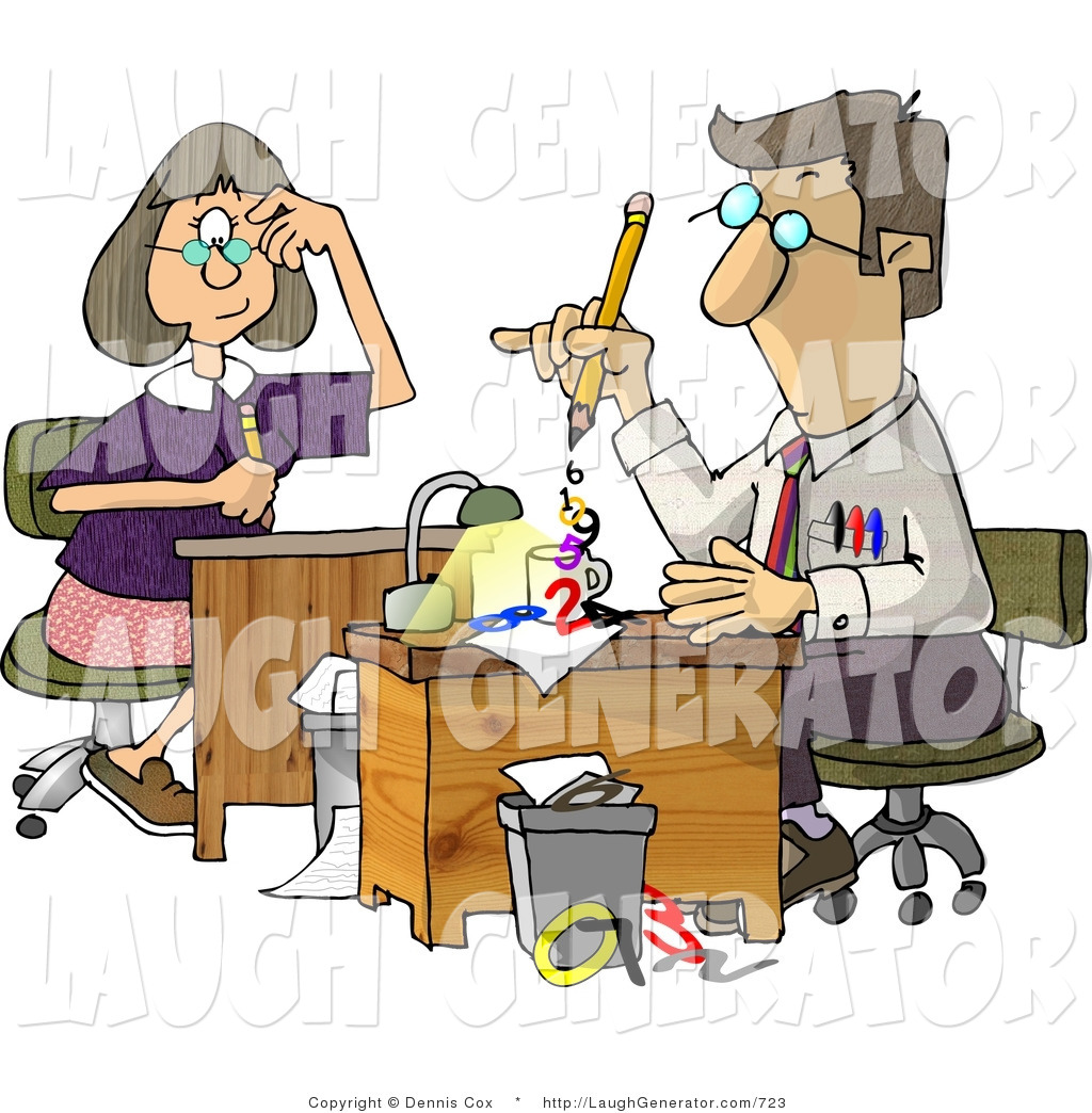 Funny accounting clipart clipart royalty free stock Humorous Clip Art of Accountants Hard at Work by djart - #723 clipart royalty free stock