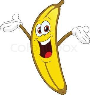 Funny banana clipart svg free library Cheerful Cartoon banana raising his hand | Clipart | Cartoon banana ... svg free library