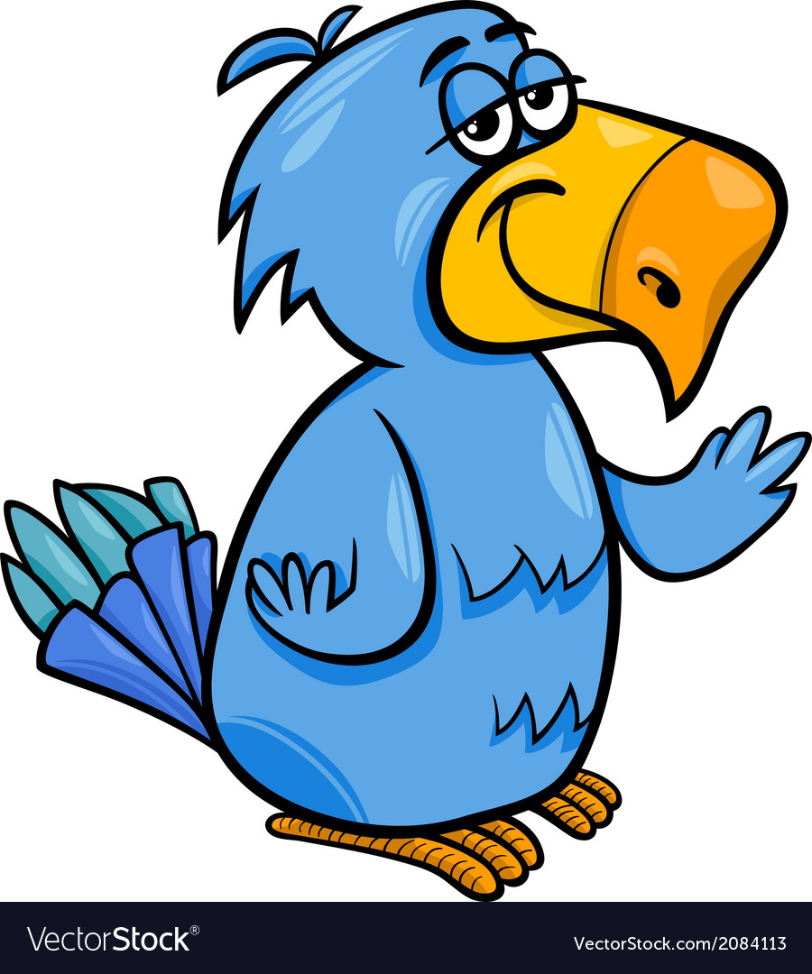 Funny bird clipart clipart free library Funny parrot bird cartoon clipart free library