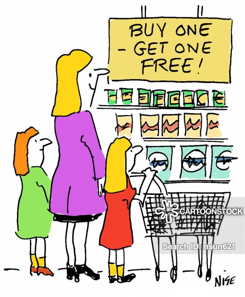 Funny buy one get one free clipart image stock Buy-one-get-one-free Cartoons and Comics - funny pictures from ... image stock