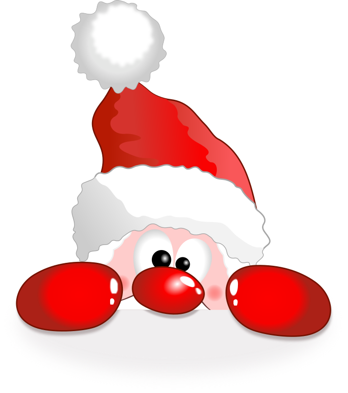 Funny christmas reindeer clipart png black and white library Funny Santa Clipart (59+) png black and white library