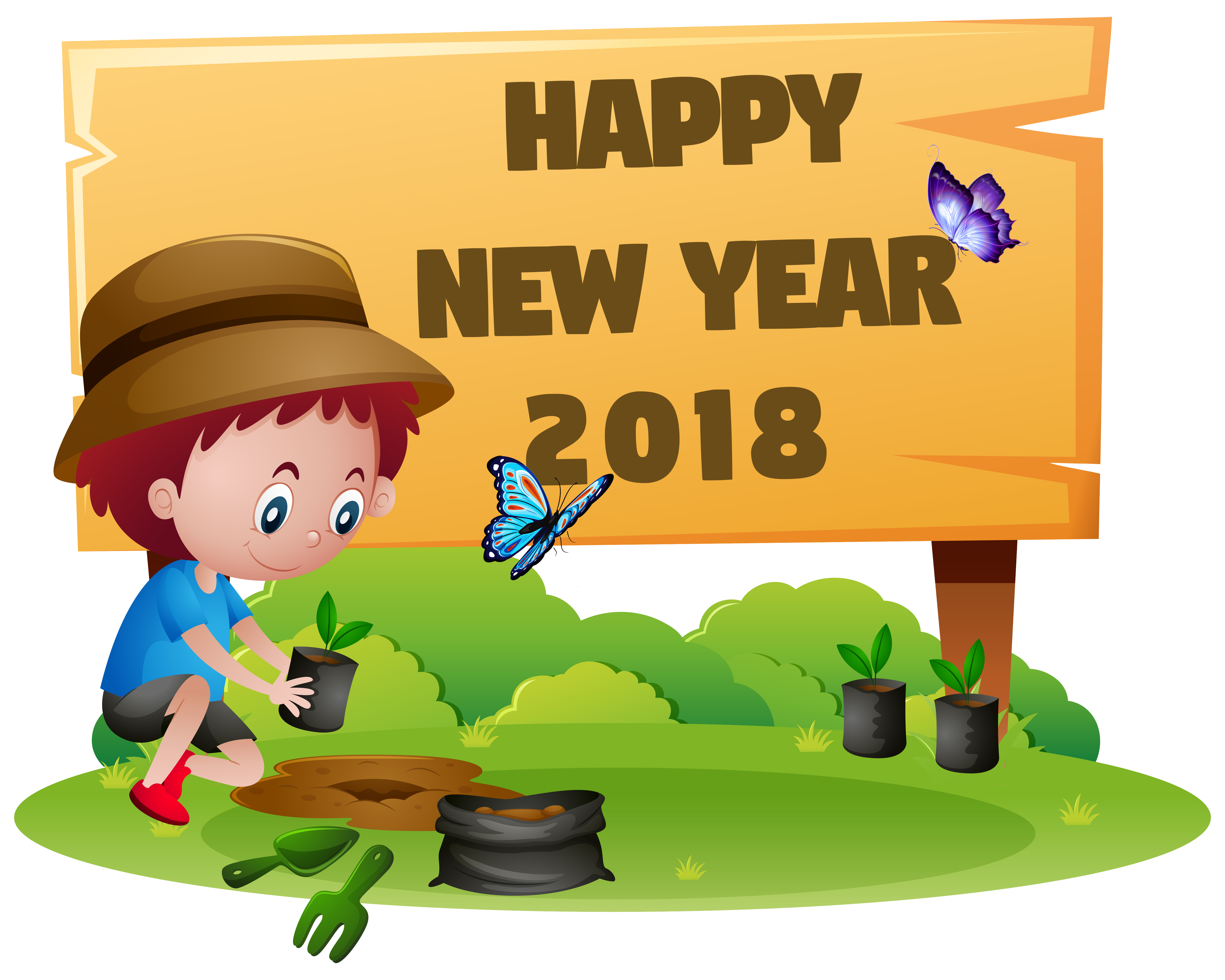 Happy new year cat clipart svg stock free 2018 New Year Clip Art - Funny New Year Clip Art - Coloring ... svg stock