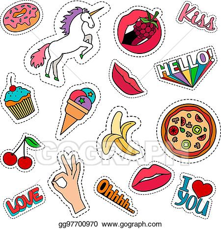 Funny clipart stickers