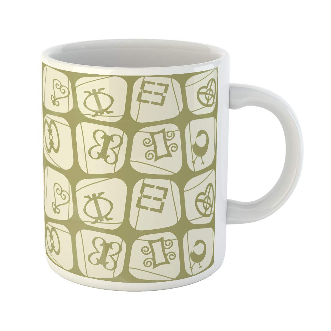 Funny coffee mug clipart jpg royalty free download Amazon.com   Semtomn Funny Coffee Mug Africa Adinkra Symbols African ... jpg royalty free download