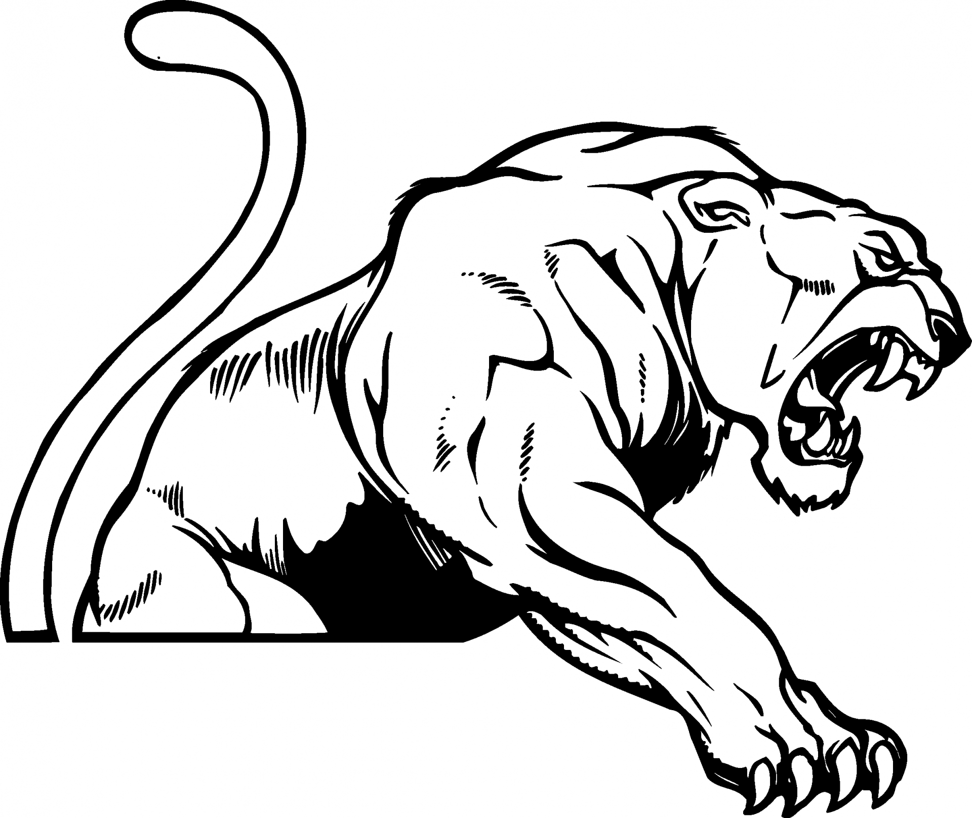 Panther mascot clipart black and white banner download Free Cougar Mascot Clipart, Download Free Clip Art, Free Clip Art on ... banner download