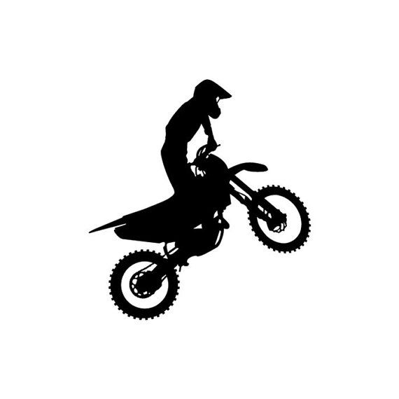 Funny dirt bike clipart black and white image black and white stock Motocross Dirt Bike Stunt Rider Vinyl Window Car Truck Laptop Decal ... image black and white stock