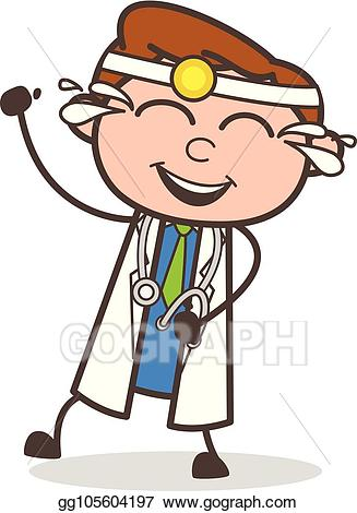 Funny doctor clipart picture free download EPS Illustration - Cartoon laughing funny doctor vector illustration ... picture free download