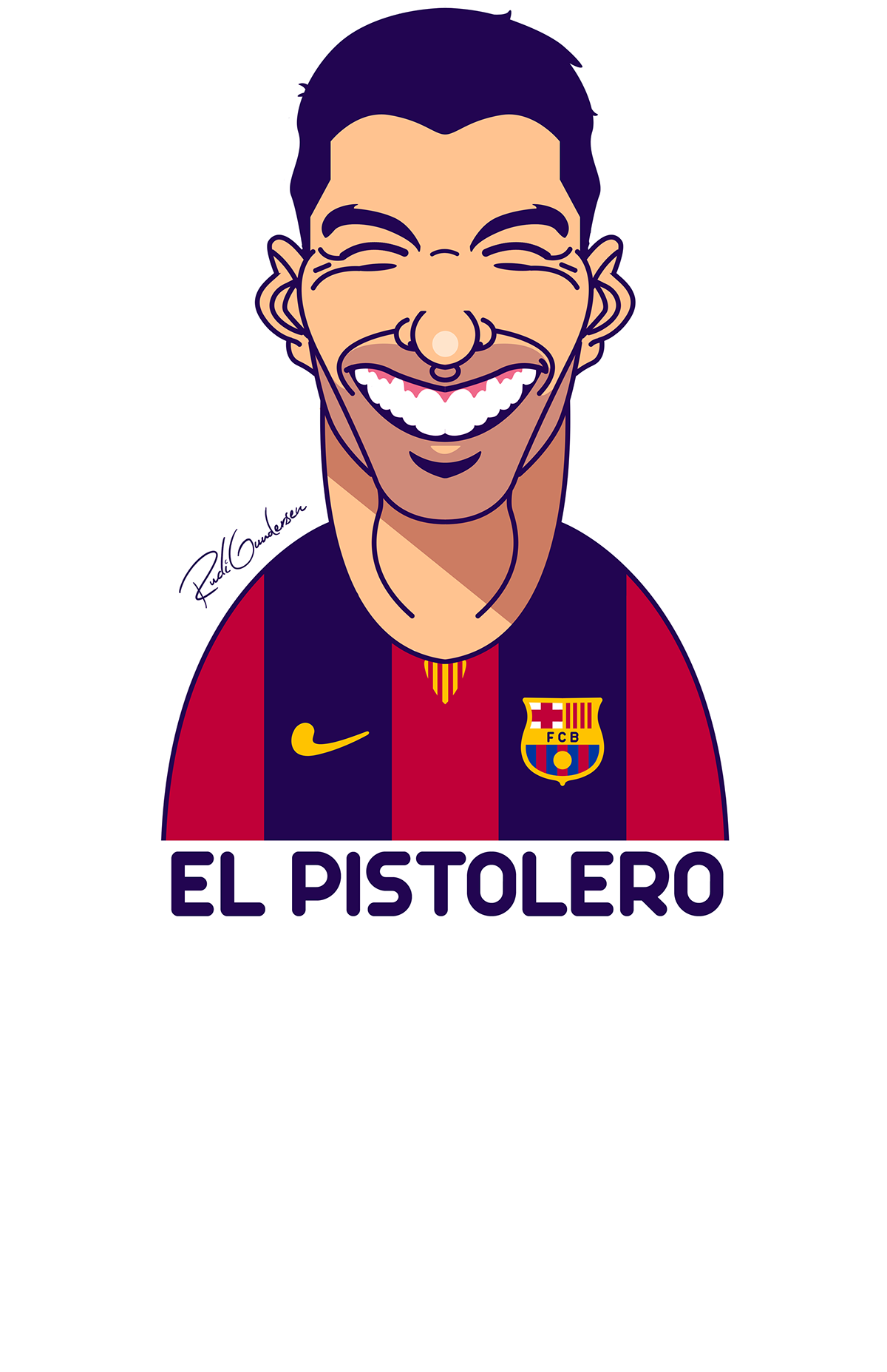 Funny face football clipart picture freeuse stock El Pistolero Luis Suárez caricatura | Football Wallpaper | Pinterest ... picture freeuse stock
