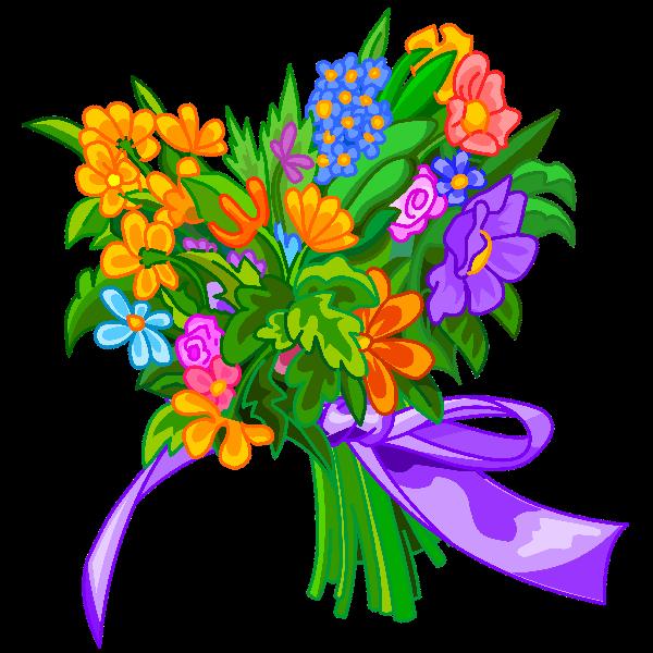 Funny flower clipart clip transparent Heart Shape Flowers clip transparent