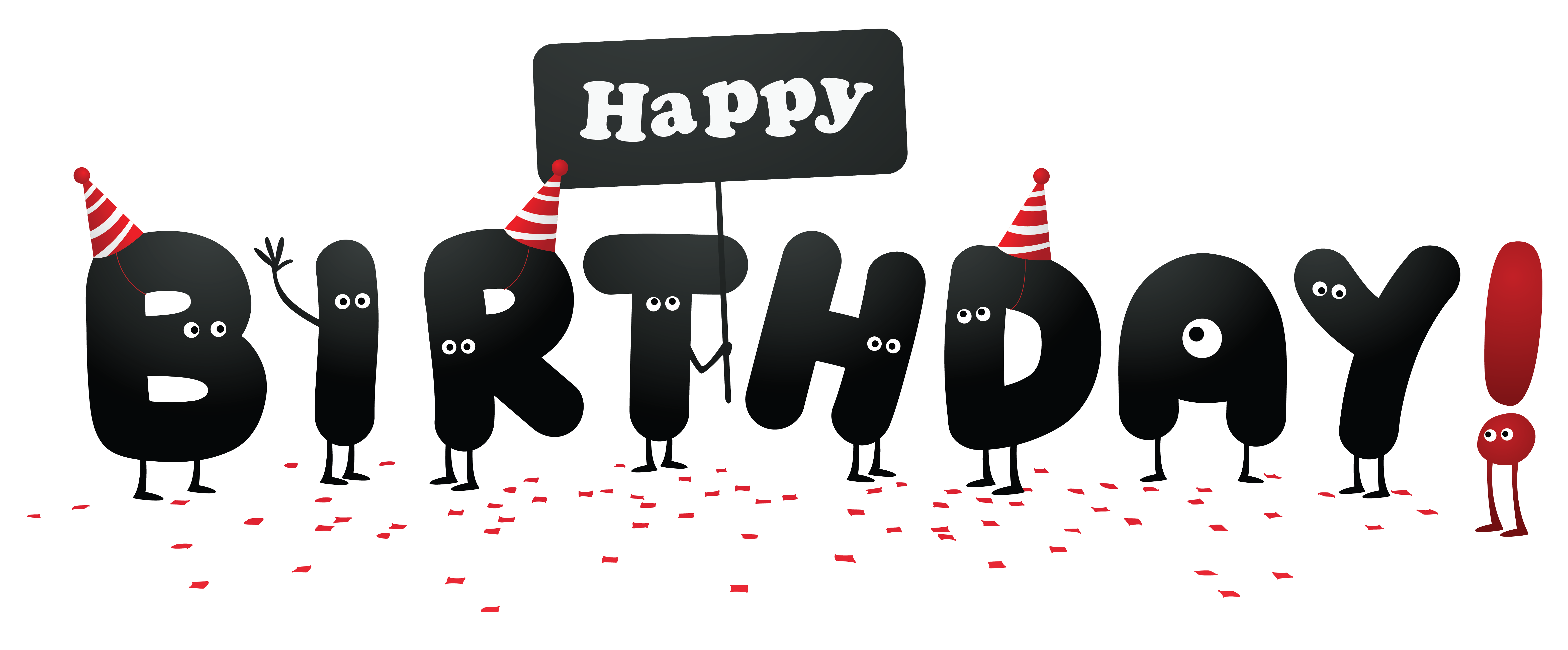 Funny flower clipart graphic freeuse stock Funny Happy Birthday without Shadows Clipart Picture | Gallery ... graphic freeuse stock