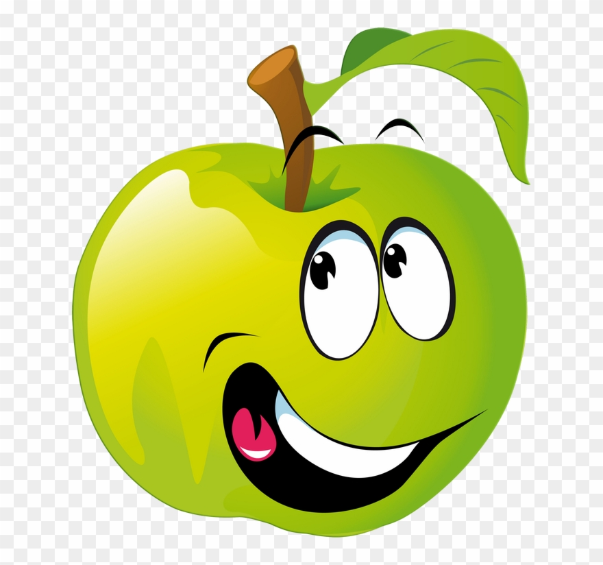 Funny fruit clipart vector library library Apfel Mit Smiley - Funny Fruits Clipart - Png Download (#203647 ... vector library library