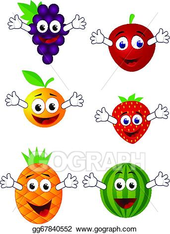 Funny fruit clipart royalty free library Vector Illustration - Funny fruit character. EPS Clipart gg67840552 ... royalty free library
