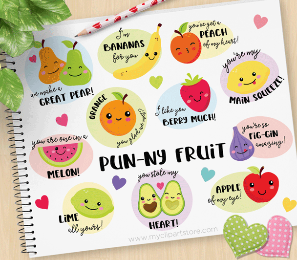 Funny fruit clipart clip art freeuse stock Funny Fruit Clipart clip art freeuse stock