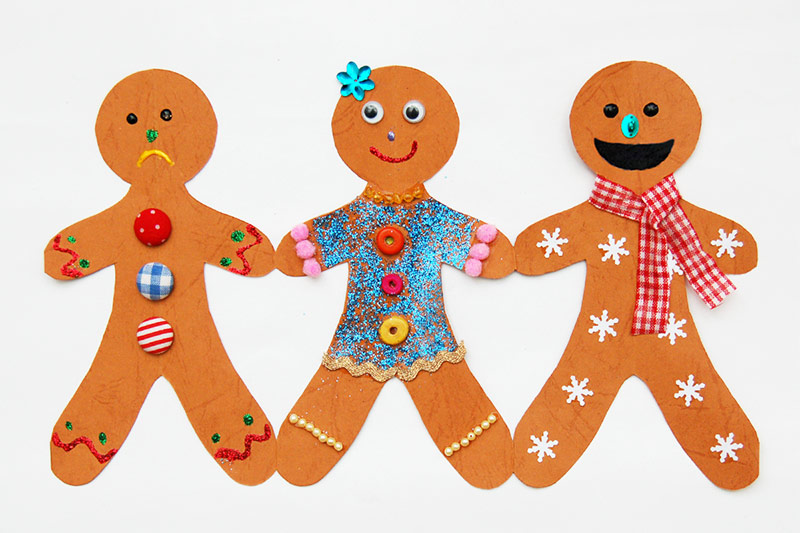 Funny gingerbread man on cookie sheet clipart clip art free download Paper Gingerbread Man Chain | Kids\' Crafts | Fun Craft Ideas ... clip art free download