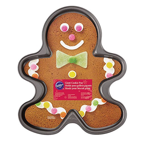 Funny gingerbread man on cookie sheet clipart svg royalty free Wilton 2105-059 Nonstick Giant Gingerbread Boy Cookie Pan svg royalty free
