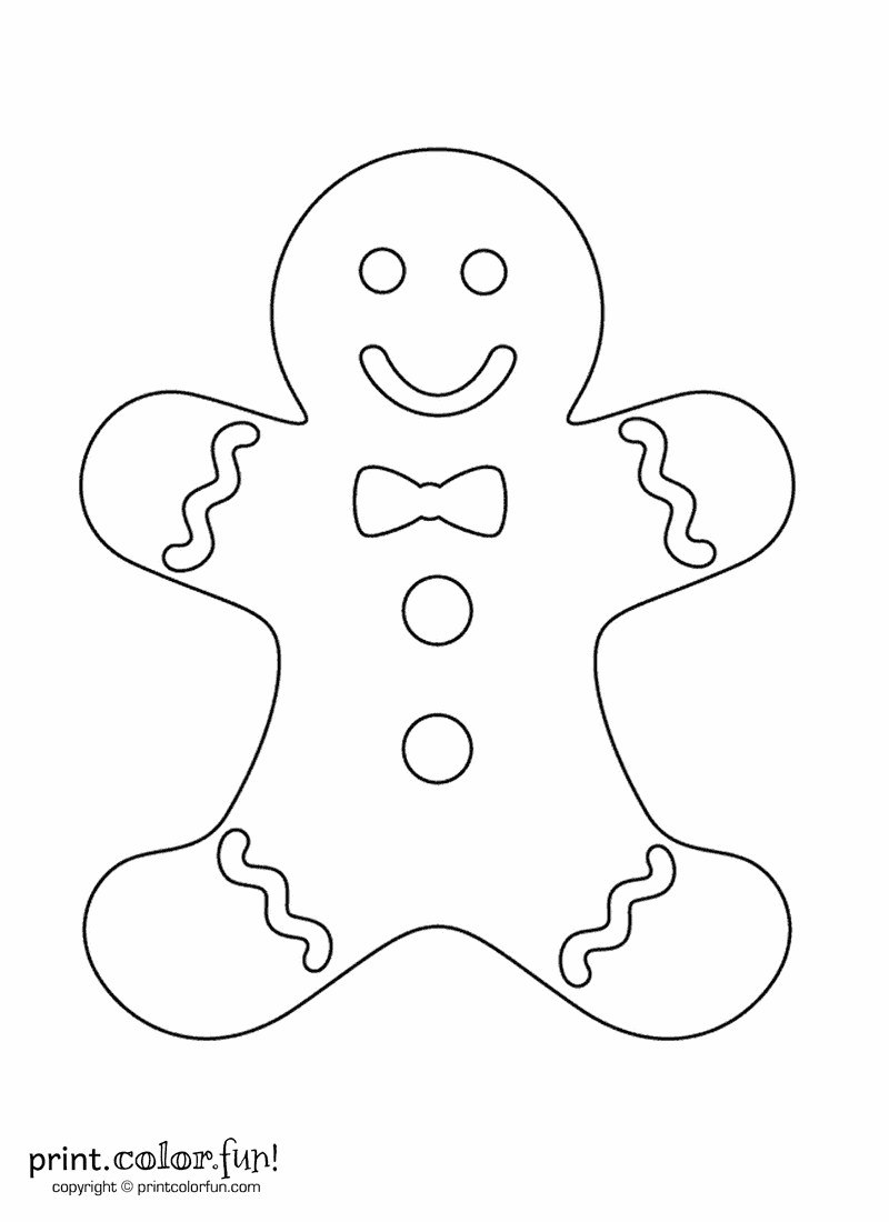 Funny gingerbread man on cookie sheet clipart banner free download Gingerbread man | Print. Color. Fun! Free printables, coloring pages ... banner free download