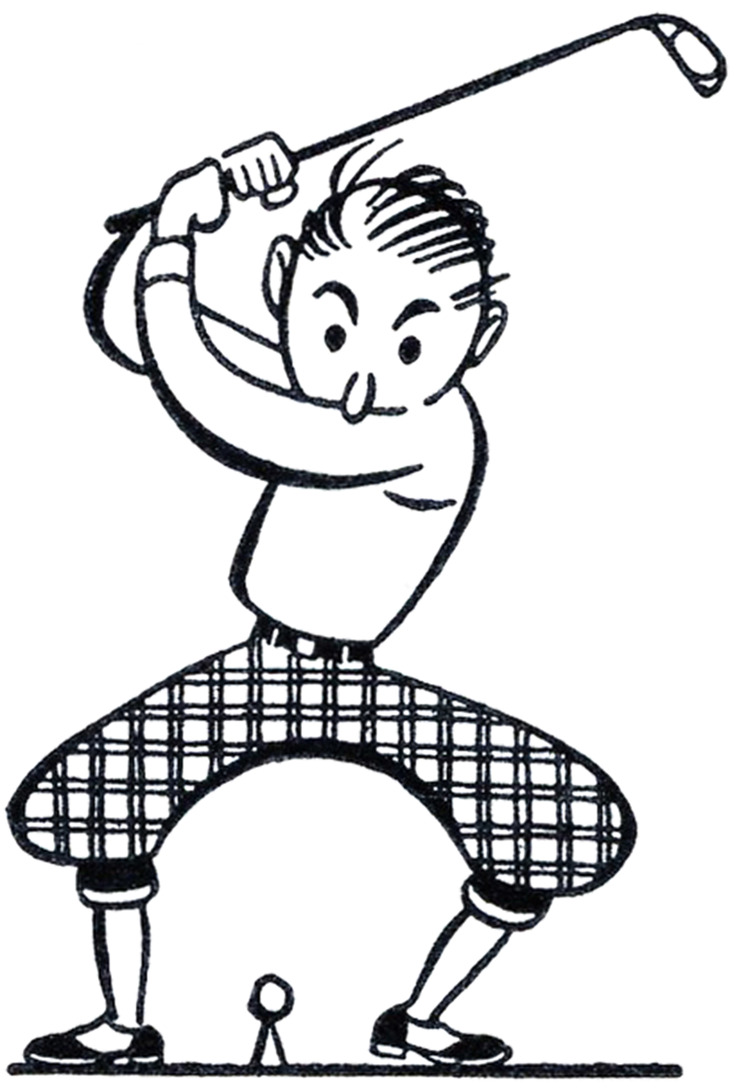 Funny golf clipart png freeuse stock Retro Golf Clip Art - Funny! - The Graphics Fairy png freeuse stock