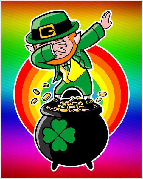 Funny irish pictures clipart jpg royalty free stock Dabbing Leprechaun Funny Irish Dab St. Patrick\'s Day Poster jpg royalty free stock