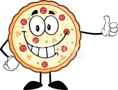 Funny looking pizza clipart clip art library Funny Pizza Holding A Thumb UP premium clipart - ClipartLogo.com clip art library