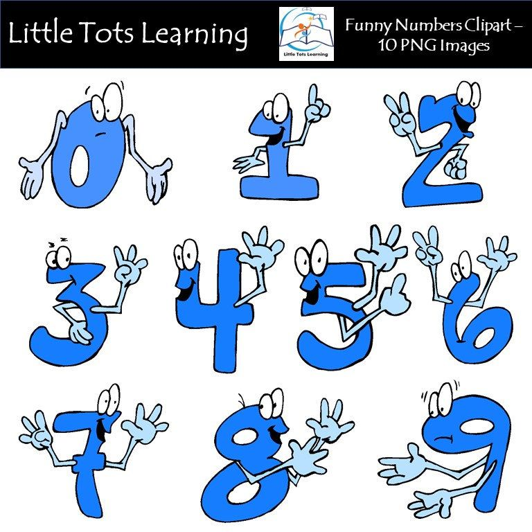 Kids learning numbers clipart graphic library library Funny Emoticon Numbers Clipart / Number Faces / Ilustrated Numbers ... graphic library library