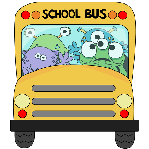 Funny school bus clipart graphic black and white school bus images funny - WikiClipArt graphic black and white