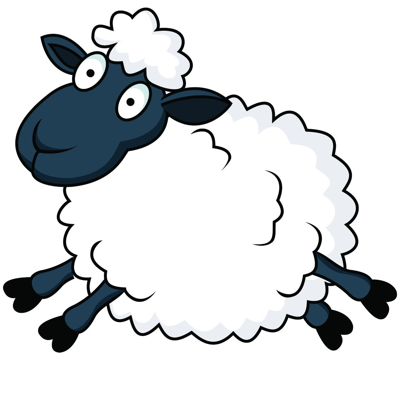 Funny sheep clipart banner black and white library Cartoon Counting Sheep | Displaying 19> Images For - Sheep Cartoon ... banner black and white library