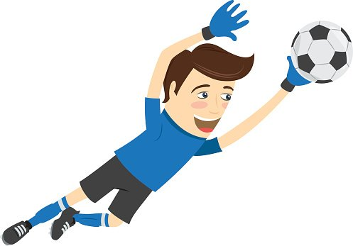 Funny soccer clipart png black and white stock Funny Soccer Football Player Goalkeeper Wearing Blue T Shirt premium ... png black and white stock