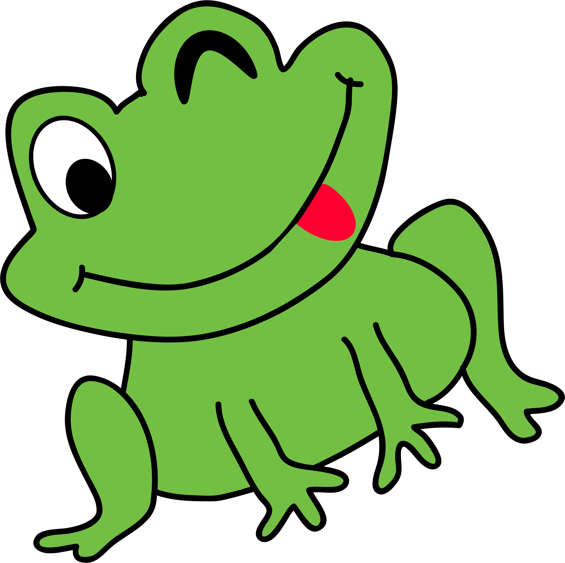 Funny tree clipart picture black and white Clipart - funny frog picture black and white