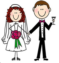 Funny wedding clipart banner black and white download Wedding Cartoon Clipart | Free download best Wedding Cartoon Clipart ... banner black and white download