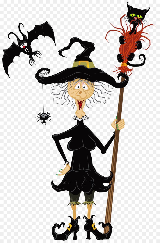 Funny witch clipart svg transparent stock Halloween Haunted House clipart - Halloween, Cartoon, Art ... svg transparent stock