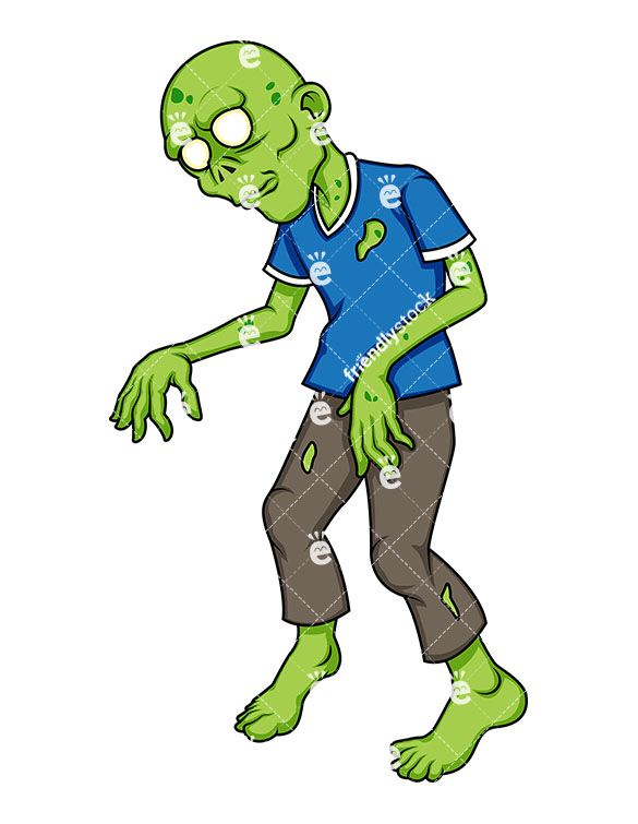 Funny zombie clipart vector royalty free download Green Zombie | Zombie Clipart | Zombie cartoon, Zombie clipart, Clip art vector royalty free download